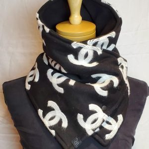 blanket cowl black chanel wool cashmere